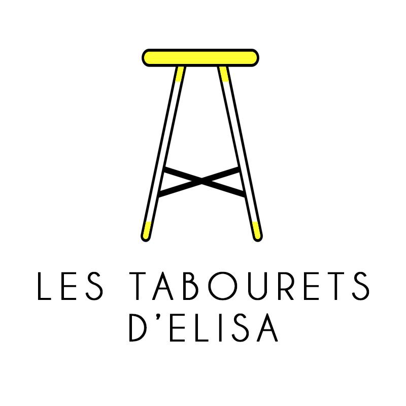 logo, Les Tabourets d'Elisa de Nova Vota, créateur qui relooke de vieux tabourets et meubles.